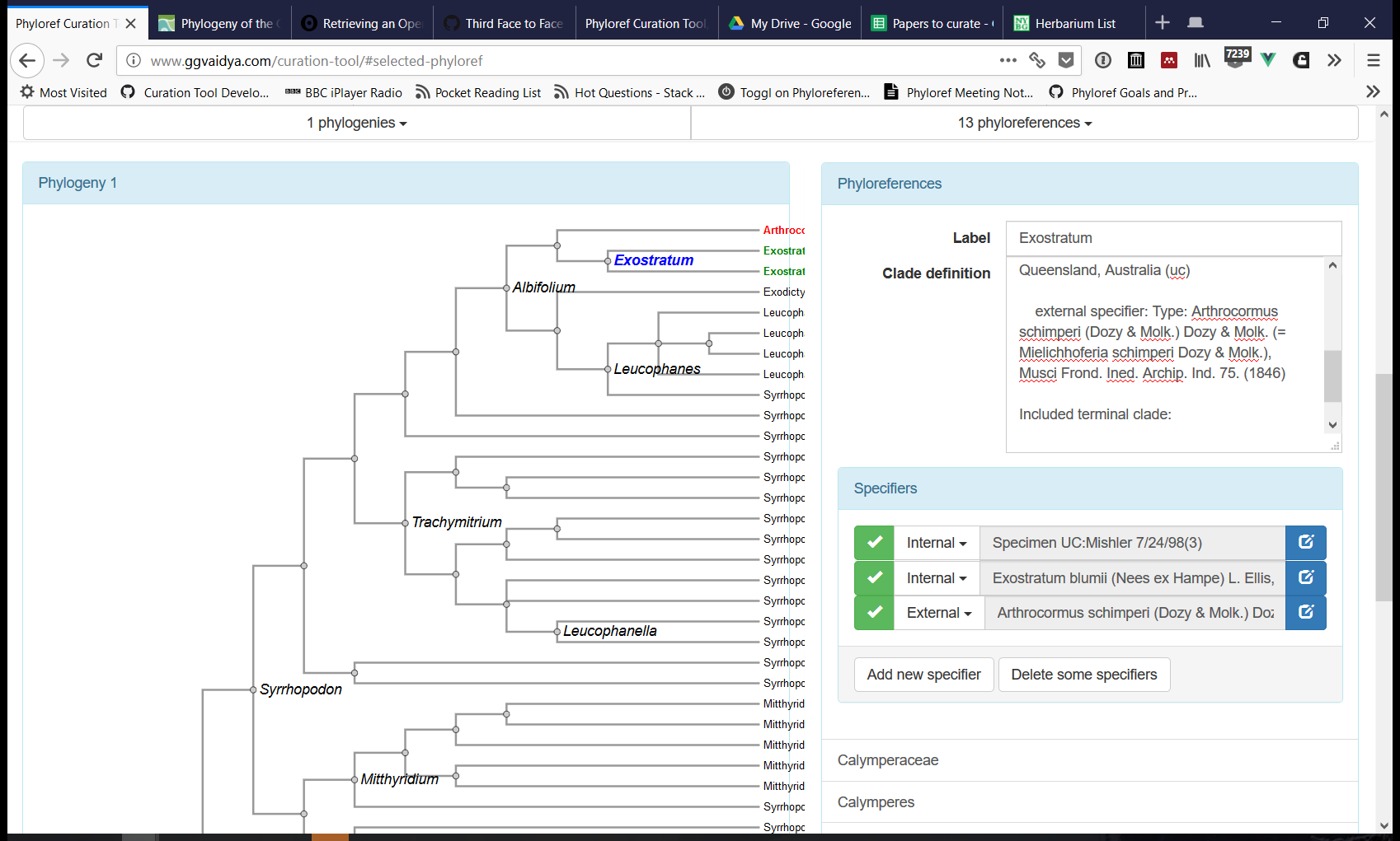 Phyloreferencing curation tool prototype